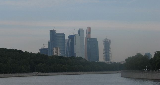 Moscow City and Mercury Tower